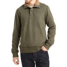 G.H. Bass & Co. Dale Sueded Mock Fleece Pullover Shirt - Long Sleeve (For Men) in Forest Night - Closeouts