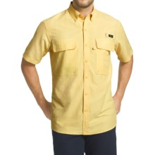 G.H. Bass & Co. Explorer Charter Solid Shirt - UPF 40, Short Sleeve (For Men) in Pop Corn - Closeouts