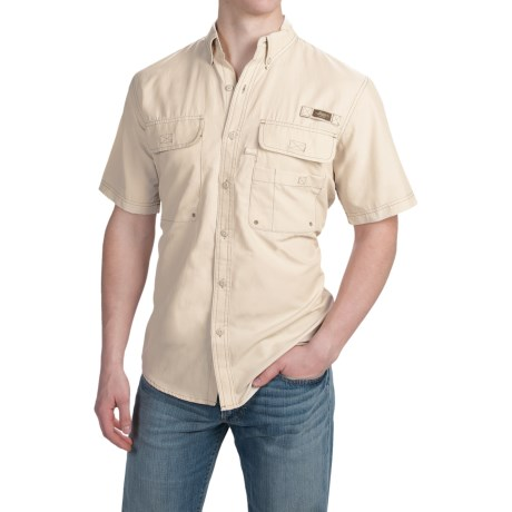 G.H. Bass and Co. Explorer Charter Solid Shirt UPF 40, Short Sleeve (For Men)