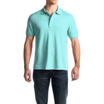 G.H. Bass & Co. Explorer Pique Polo Shirt - Short Sleeve (For Men) in Aqua Splash - Closeouts