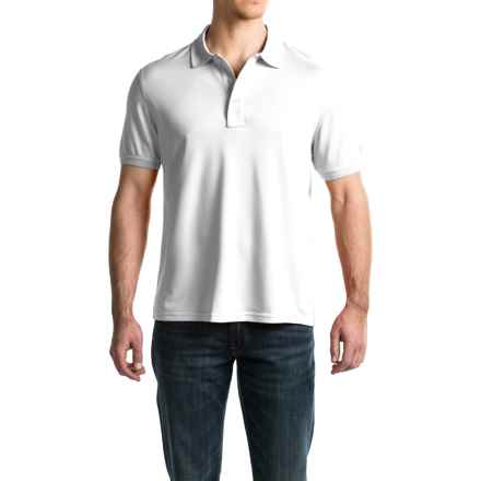 G.H. Bass & Co. Explorer Pique Polo Shirt - Short Sleeve (For Men) in Bright White - Closeouts