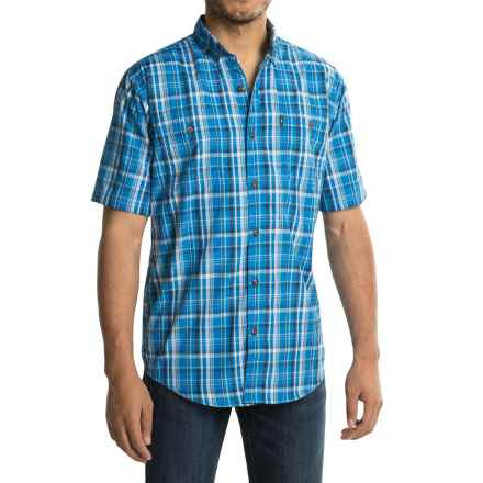 G.H. Bass & Co. Explorer Plaid Shirt - UPF 40, Short Sleeve (For Men) in Skydiver - Closeouts