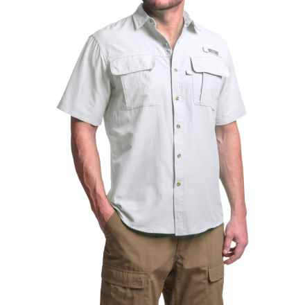 G.H. Bass & Co. Explorer Solid Shirt - UPF 40, Short Sleeve (For Men) in Bright White - Closeouts