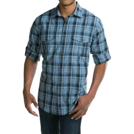 G.H. Bass & Co. Fancy Explorer Plaid Shirt - UPF 40, Long Sleeve (For Men) in Blue Bering Sea - Closeouts