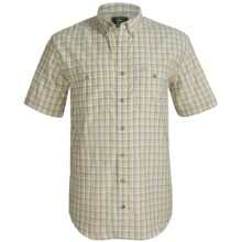 G.H. Bass & Co. Fancy Explorer Shirt - Short Sleeve (For Big and Tall Men) in Neutral Grey - Closeouts