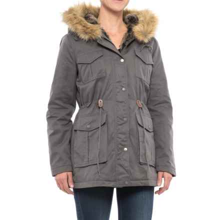 G.H. Bass & Co. Four-Pocket Twill Hooded Parka - Insulated (For Women) in Eiffel Tower - Closeouts
