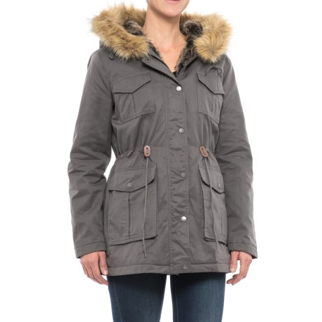 G.H. Bass and Co. Four-Pocket Twill Hooded Parka - Insulated (For Women)