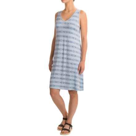 G.H. Bass & Co. Geo Stripe Dress - Sleeveless (For Women) in Light Blue/White - Closeouts