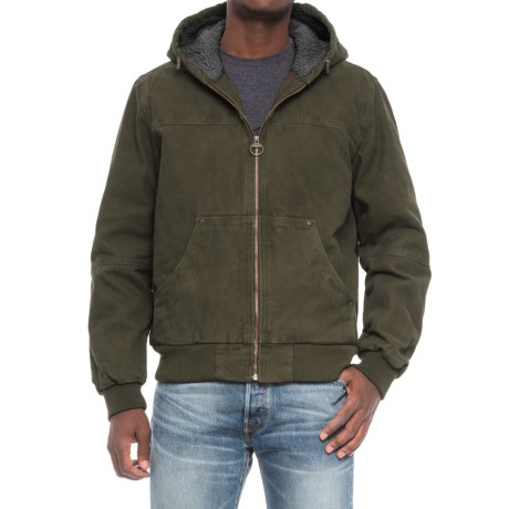G.H. Bass & Co. Heavy Cotton Canvas Hooded Jacket (For Men) in Olive