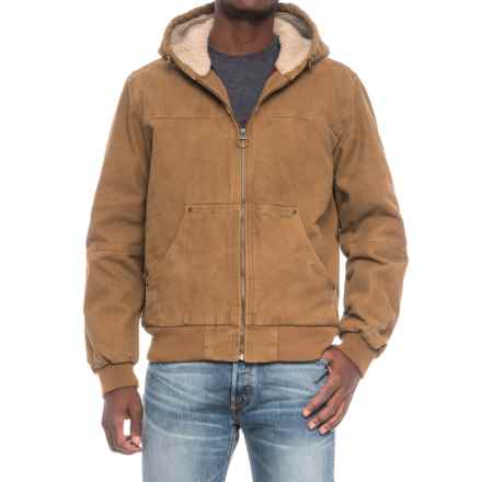 G.H. Bass & Co. Heavy Cotton Canvas Hooded Jacket (For Men) in Worker Brown - Closeouts