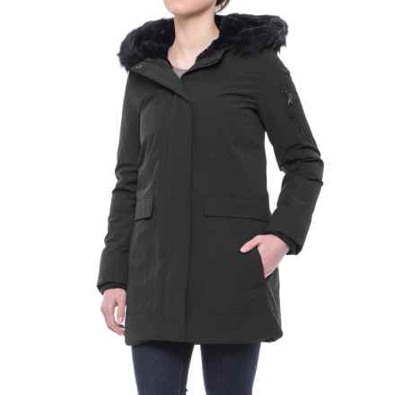 G.H. Bass & Co. Hooded Down Parka - Faux-Fur Trim (For Women) in Black - Closeouts