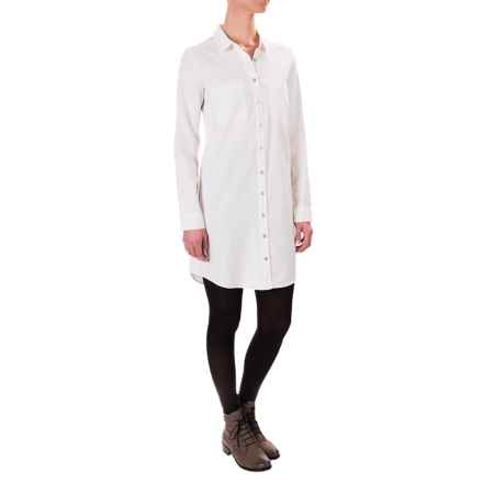 G.H. Bass & Co. Lightweight Corduroy Dress - Button Front, Long Sleeve (For Women) in French Vanilla - Closeouts