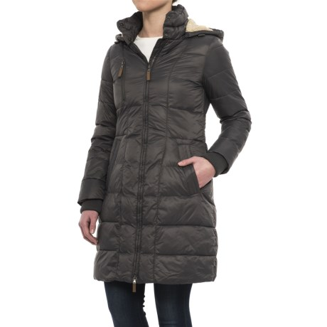 G.H. Bass & Co. Long Box-Quilted Parka - Insulated (For Women) in Eiffel Tower
