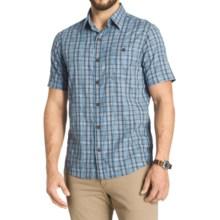 G.H. Bass & Co. Madawaska Trail Plaid Shirt - Short Sleeve (For Men) in Vintage Indigo - Closeouts