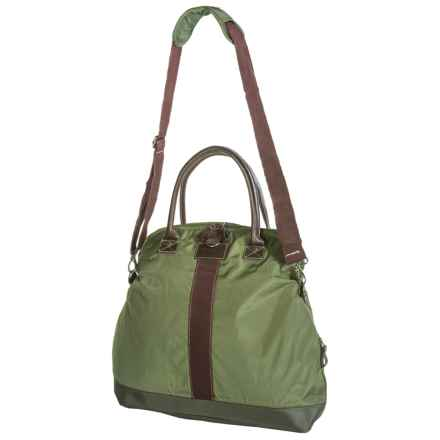 G.H. Bass & Co. McKinley Fold-Over Duffel Bag in Olive - Closeouts