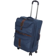 "G.H. Bass & Co. McKinley Spinner Suitcase - 21"" in Blue - Closeouts"