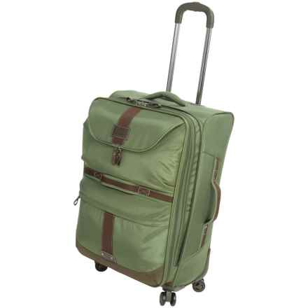 "G.H. Bass & Co. McKinley Spinner Suitcase - 21"" in Olive - Closeouts"