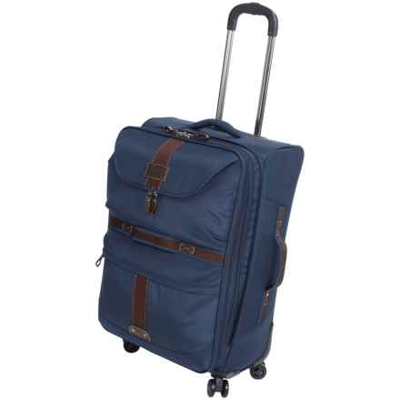 "G.H. Bass & Co. McKinley Spinner Suitcase - 25"" in Blue - Closeouts"