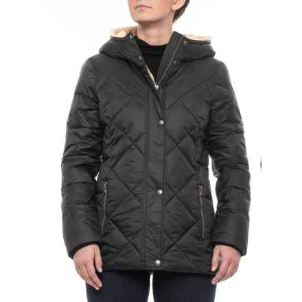 G.H. Bass & Co. Midlength Diamond Quilted Puffer Jacket - Insulated (For Women) in Black