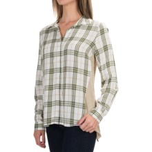 G.H. Bass & Co. Mixed Media Shirt - Long Sleeve (For Women) in Ivory Multi - Closeouts