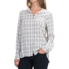 G.H. Bass & Co. Mixed Media Shirt - Long Sleeve (For Women) in Soft White Combo - Closeouts