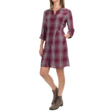 G.H. Bass & Co. Plaid Dress - Long Sleeve (For Women) in Plum Black - Closeouts