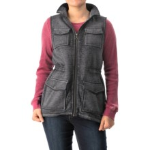 G.H. Bass & Co. Pocketed Fleece Vest (For Women) in Black - Closeouts