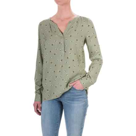 G.H. Bass & Co. Print Rayon Shirt - Long Sleeve (For Women) in Green/Black - Closeouts