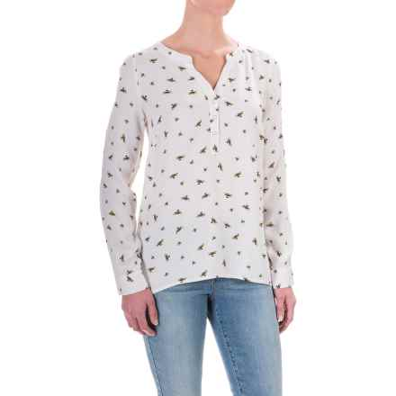 G.H. Bass & Co. Print Rayon Shirt - Long Sleeve (For Women) in Ivory Multi - Closeouts