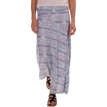 G.H. Bass & Co. Printed Maxi Skirt (For Women) in Grey Multi - Closeouts