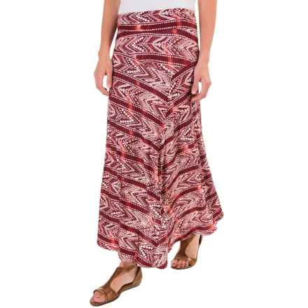 G.H. Bass & Co. Printed Maxi Skirt (For Women) in Wineberry Combo - Closeouts