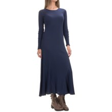 G.H. Bass & Co. Ribbed Maxi Dress - Long Sleeve (For Women) in Deep Navy - Closeouts