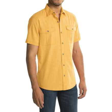 G.H. Bass & Co. Salt Cove Pigment Solid Shirt - Short Sleeve (For Men) in Cornsilk - Closeouts