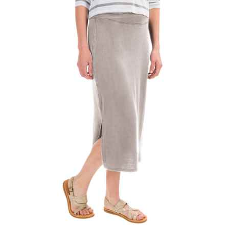 G.H. Bass & Co. Snow-Wash Terry Midi Skirt (For Women) in Grey Dusk - Closeouts