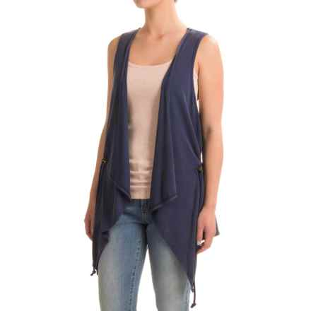 G.H. Bass & Co. Snow-Wash Terry Vest (For Women) in Navy Water - Closeouts