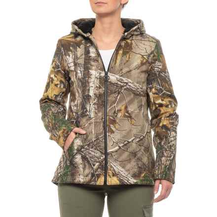 G.H. Bass & Co. Soft Shell Jacket - Insulated (For Women) in Green Real Tree