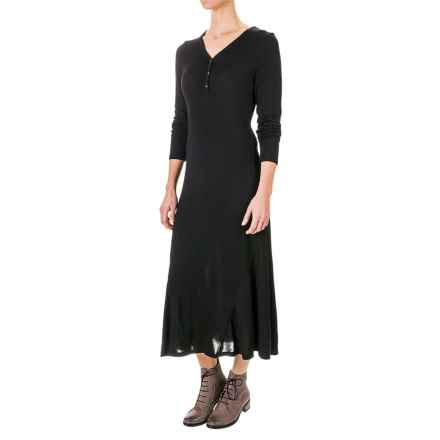 G.H. Bass & Co. Soft Streak Maxi Dress - Long Sleeve (For Women) in Black - Closeouts