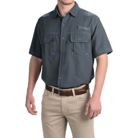 GH Bass and Co Solid Explorer Shirt Short Sleeve For Tall Men