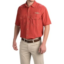 G.H. Bass & Co. Solid Explorer Shirt - Short Sleeve (For Tall Men) in Tandori Spice - Closeouts