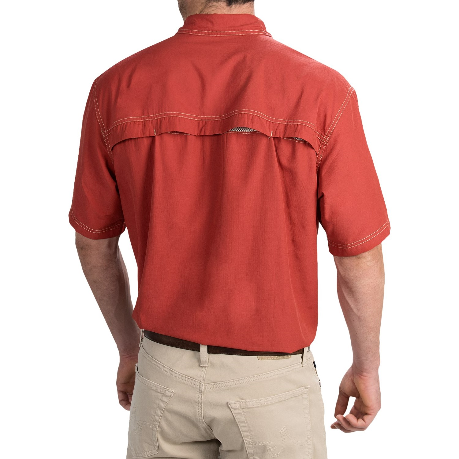G h bass co solid explorer shirt for tall men save 54 for Big and tall quick dry shirts