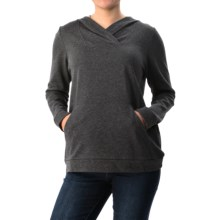 G.H. Bass & Co. Speckle Hoodie (For Women) in Heather Charcoal Combo - Closeouts
