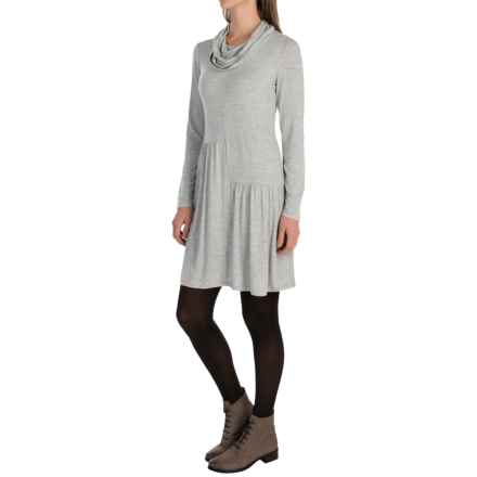 G.H. Bass & Co. Stretch Viscose Dress - Long Sleeve (For Women) in Dark Heather Grey - Closeouts