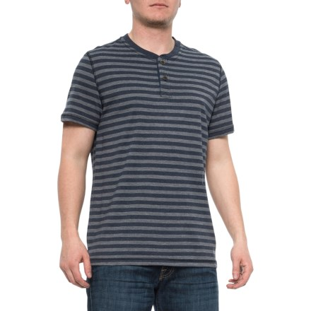 3333a1fc Striped Henley Shirt - Short Sleeve (For Men) in
