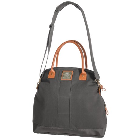 G.H. Bass & Co. Tamarack Fold-Over Tote Bag - Cotton Canvas in Grey