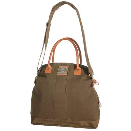 G.H. Bass & Co. Tamarack Fold-Over Tote Bag - Cotton Canvas in Khaki - Closeouts