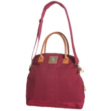 G.H. Bass & Co. Tamarack Fold-Over Tote Bag - Cotton Canvas in Red - Closeouts