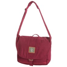 G.H. Bass & Co. Tamarack Messenger Bag - Cotton Canvas in Red - Closeouts