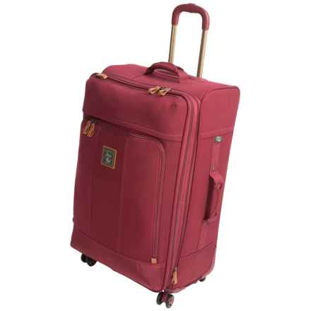"""G.H. Bass & Co. Tamarack Spinner Suitcase - 25"""" in Red - Closeouts"""