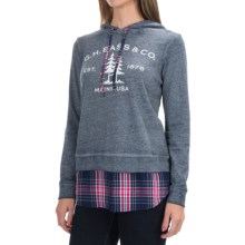 G.H. Bass & Co. Tree Logo Sweatshirt - Hooded (For Women) in Deep Navy Combo - Closeouts