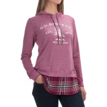G.H. Bass & Co. Tree Logo Sweatshirt - Hooded (For Women) in Plum Black - Closeouts